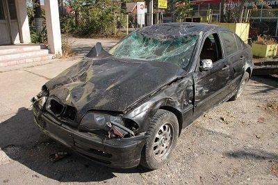 Coche colisionado por vehículo sin seguro